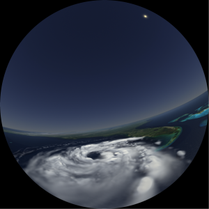 Hurricane Katrina dome render